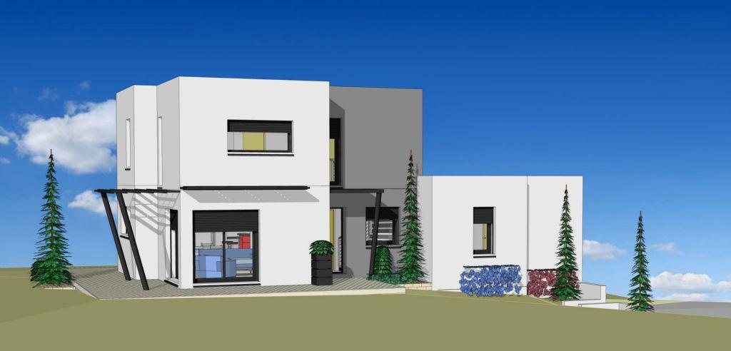 Projet 08 carriere constructions for Maison moderne rodez