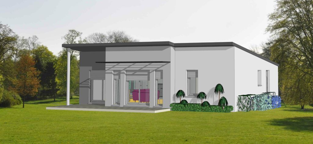 Projet 15 carriere constructions for Maison moderne rodez
