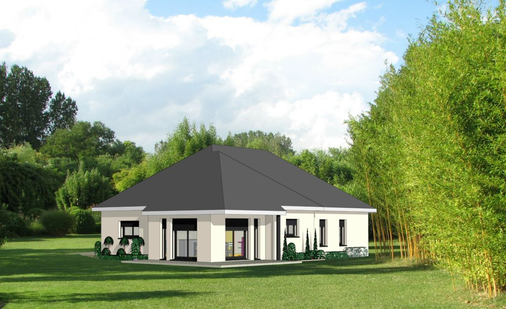 Projet 12 carriere constructions for Maison moderne rodez