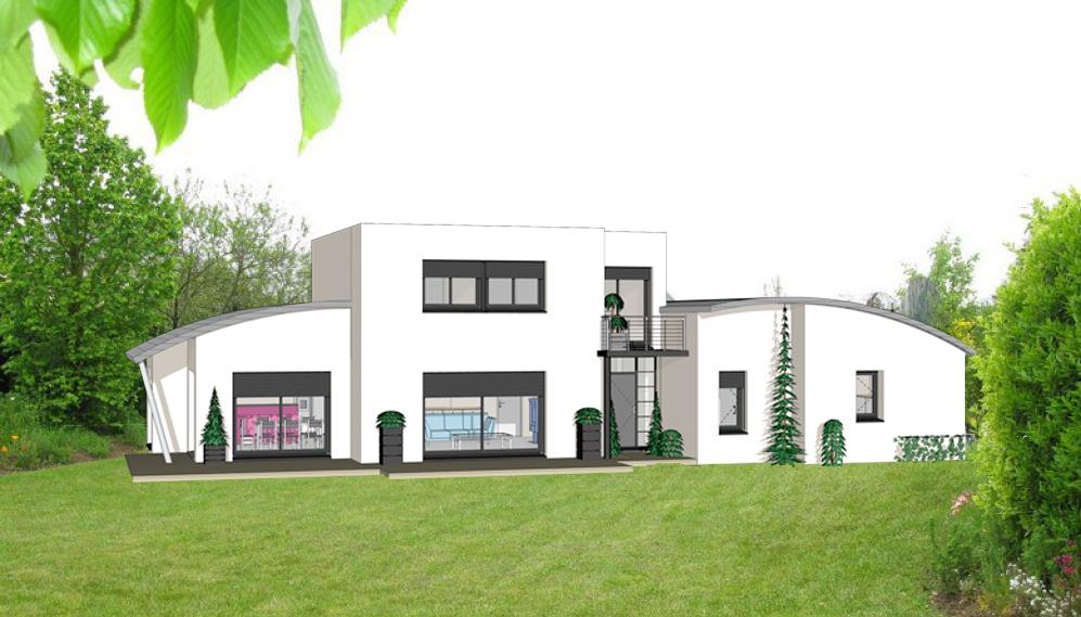 Projet 17 carriere constructions for Maison moderne rodez