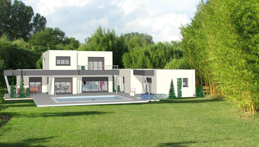 Projet 19 carriere constructions for Maison moderne rodez