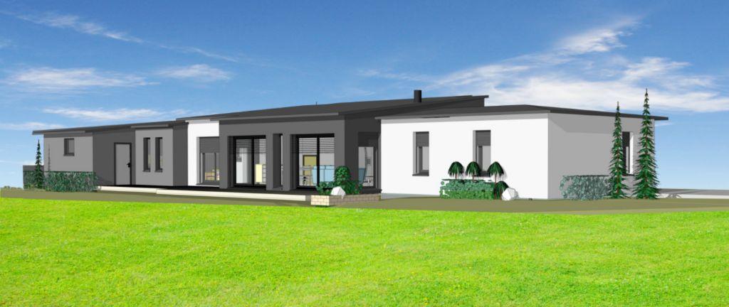 Projet 20 carriere constructions for Maison moderne rodez