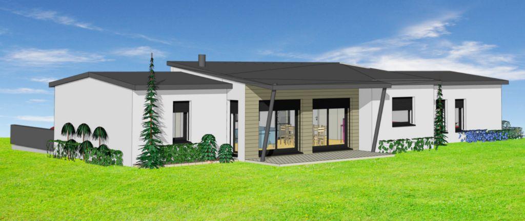 Projet 21 carriere constructions for Maison moderne rodez