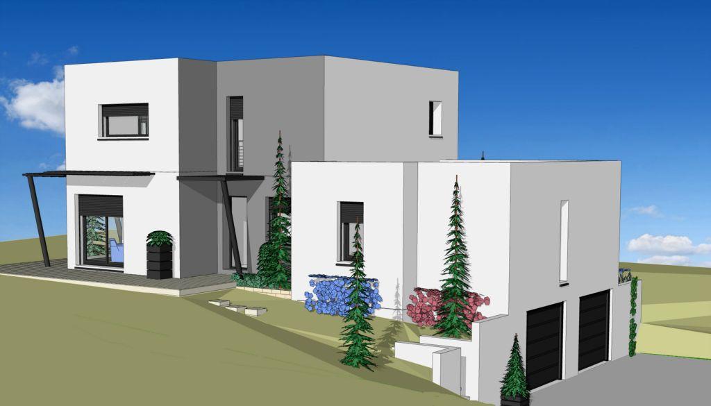 Projet 23 carriere constructions for Maison moderne rodez