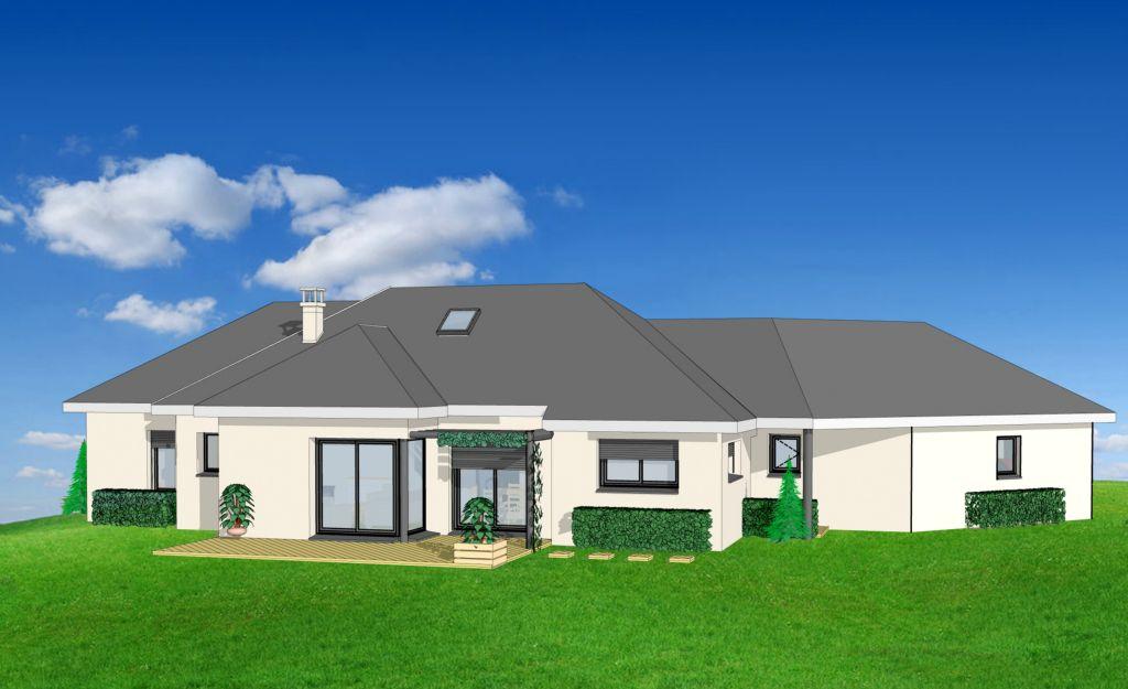 Projet 25 carriere constructions for Maison moderne rodez