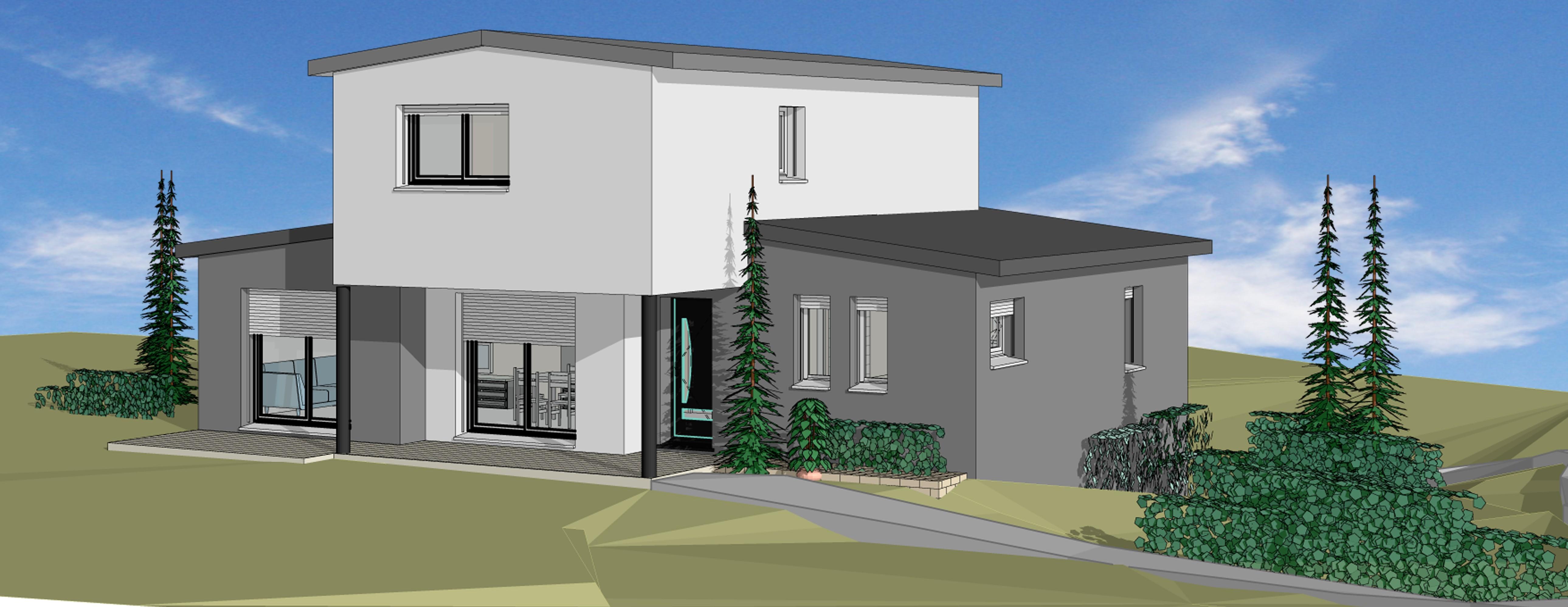 Nos r alisations constructeur de maison individuelle for Constructeur maison individuelle aveyron